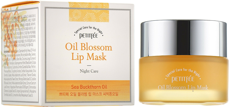 Night Lip Mask with Vitamic E & Sea Buckthorn Oil - Petitfee&Koelf Oil Blossom Lip Mask