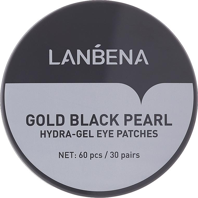 Gold & Black Pearl Hydrogel Eye Patch - Lanbena Gold Black Pearl Collagen Eye Patch