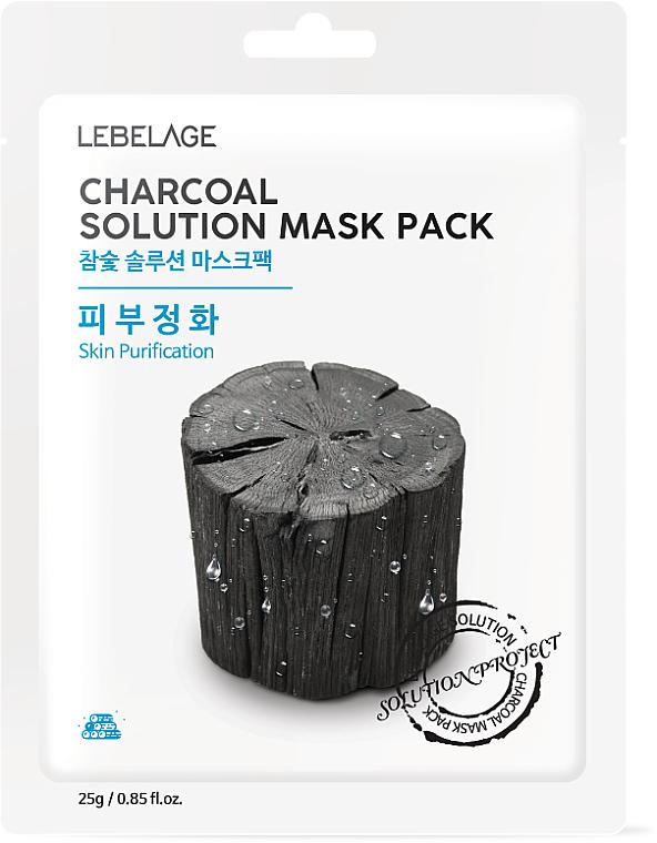 "Facial Sheet Mask ""Charcoal"" - Lebelage Charcoal Solution Mask"