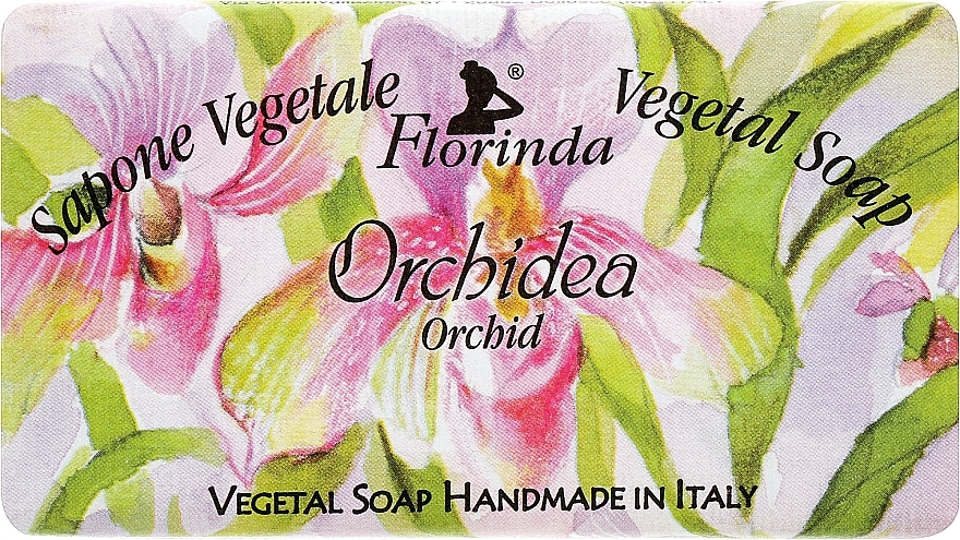 "Natural Soap ""Orchid"" - Florinda Sapone Vegetale Vegetal Soap Orchid"
