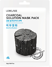"Fragrances, Perfumes, Cosmetics Facial Sheet Mask ""Charcoal"" - Lebelage Charcoal Solution Mask"
