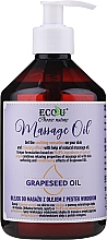 Fragrances, Perfumes, Cosmetics Massage Oil - Eco U Grapeseed Massage Oil