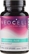 """Fragrances, Perfumes, Cosmetics Hyaluronic Acid """"Natural Moisturizer"""", 100 mg, 60 capsules - NeoCell Hyaluronic Acid"""