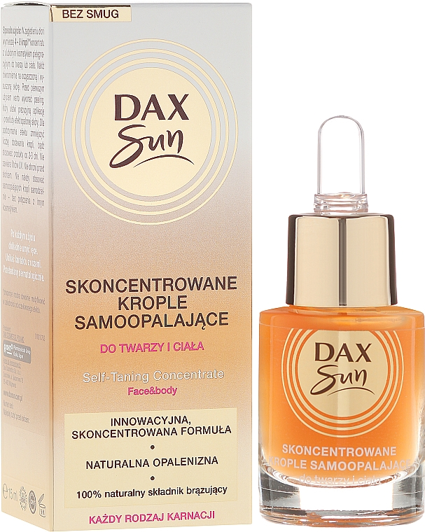 Self-Tanning Concentrated Drops - Dax Sun Self-tanning Concentrated Drops