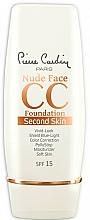 Fragrances, Perfumes, Cosmetics CC Cream - Pierre Cardin Nude Face CC Foundation Second Skin SPF 15