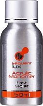 Fragrances, Perfumes, Cosmetics Liquid Acrylic Top Coat - Silcare Sequent Lux Acrylic Monomer Fast Violet