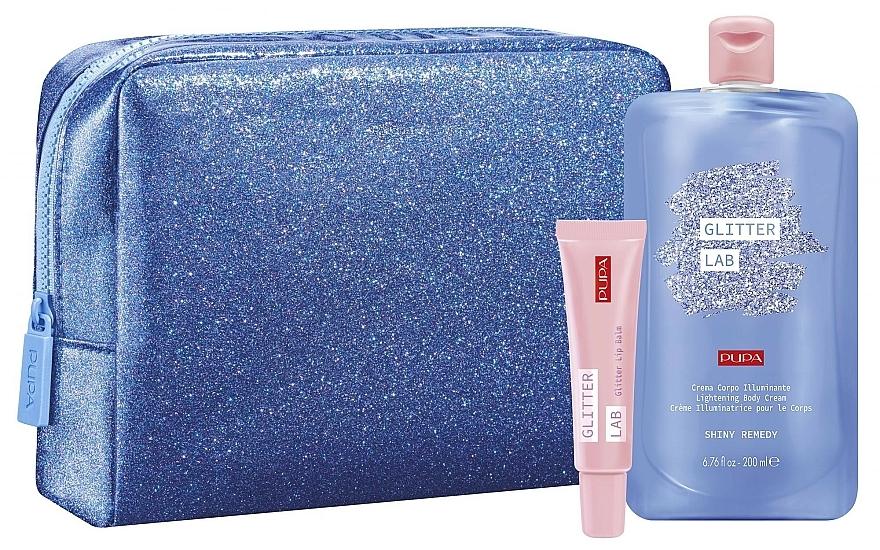 Set - Pupa Glitter Lab Shiny Remedy (bag + lip balm/15 ml + cream/200ml) — photo N1