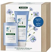 Fragrances, Perfumes, Cosmetics Set - Klorane Flax Fiber (shm/200ml + cond/200ml)