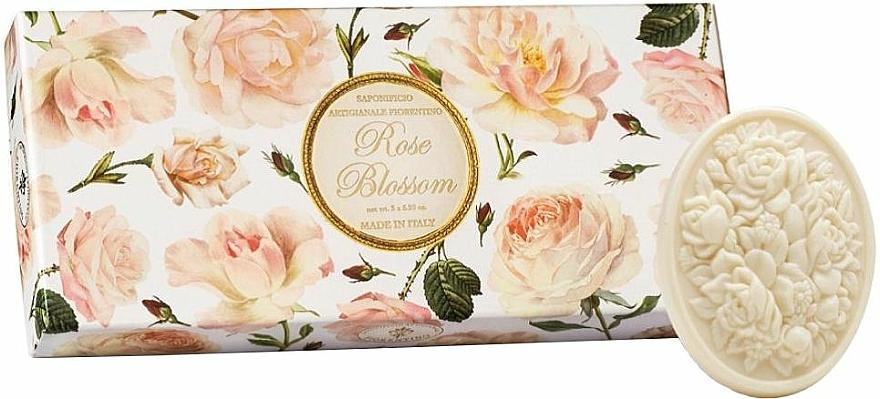 """Toilet Soap Set """"Rose"""" - Saponificio Artigianale Fiorentino Rose Blossom (Soap/3x125g)"""