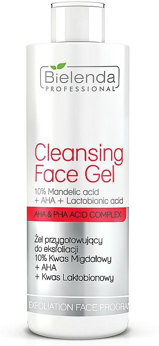 Exfoliating Gel 10% with Almind Acid + AHA + Lactobionic Acid - Bielenda Professional Exfoliation Face Program Cleansing Face Gel