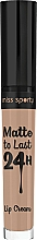 Fragrances, Perfumes, Cosmetics Matte Lipstick - Miss Sporty Matte To Last 24h Lip Cream