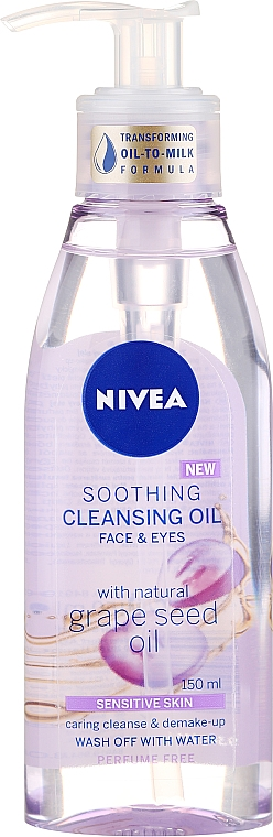 Sensitive Skin Cleansing Oil - Nivea Cleansing Oil Soothing Grape Seed