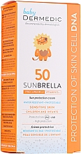 Fragrances, Perfumes, Cosmetics Sun Protection Cream for Kids - Dermedic Sunbrella Baby Sun Protection Cream SPF 50+