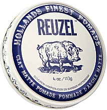 Fragrances, Perfumes, Cosmetics Strong Hold Hair Styling Clay - Reuzel Clay Matte Pomade Strong Hold