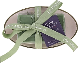 Fragrances, Perfumes, Cosmetics Oval Olive Soap with Ceramic Soap Dish - Le Chatelard 1802 Olive Soap