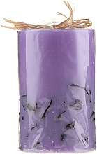 "Fragrances, Perfumes, Cosmetics Scented Candle ""Lavender"", 65/100 mm - Bulgarian Rose"