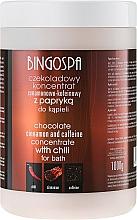 "Fragrances, Perfumes, Cosmetics Chocolate Bath Concentrate ""Cinnamon & Caffeine"" - BingoSpa Chocolate Cinnamon and Coffeine Concentrate For Bath"