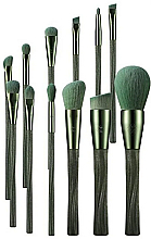 Fragrances, Perfumes, Cosmetics Makeup Brush Set, 12 pcs - Eigshow Ecopro Series Tea Makeup Brush Kit