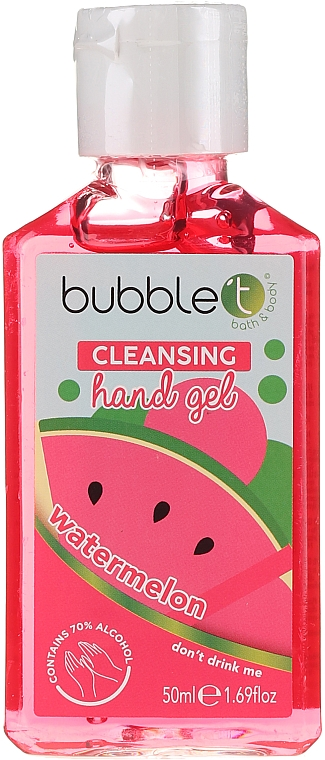 "Antibacterial Hand Gel ""Watermelon"" - Bubble T Watermelon Hand Cleansing Gel"