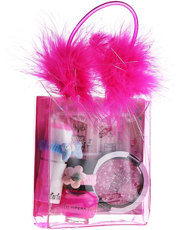 Cosmetic Set for Girls - Tutu Mix 22 (n/polish/5ml + lip/gloss/7ml + eye/cheek/shadow/4,5ml + bag)