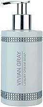 Fragrances, Perfumes, Cosmetics Liquid Soap - Vivian Gray White Crystals Luxury Cream Soap