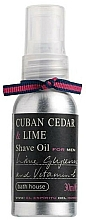 Fragrances, Perfumes, Cosmetics Bath House Cuban Cedar & Lime - Shaving Oil