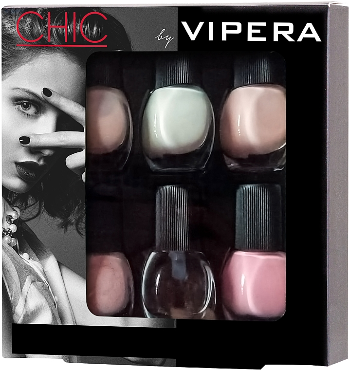 Nail Polish Set - Vipera Chic (nail/polish/6x5.5ml) (01 -Allure) — photo N1
