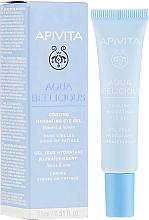 Fragrances, Perfumes, Cosmetics Moisturizing Eye Gel - Apivita Aqua Beelicious Cooling Hydrating Eye Gel