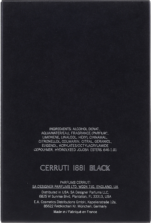 Cerruti 1881 Black - Eau de Toilette — photo N2