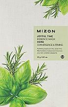 Fragrances, Perfumes, Cosmetics Herbal Face Sheet Mask - Mizon Joyful Time Essence Mask Herb
