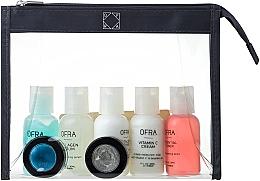 Fragrances, Perfumes, Cosmetics Set - Ofra Skin Care Kit Dry (cleanser/30ml + f/ton/30ml + eye/remover/30ml + f/cr/30ml + ser/30ml + f/peel/7ml + b/scrub/7ml + bag)