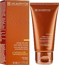 Fragrances, Perfumes, Cosmetics Regenerating Sun Cream SPF 20+ - Academie Bronzecran Face Age Recovery Sunscreen Cream