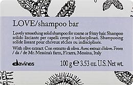 Fragrances, Perfumes, Cosmetics Smoothing Solid Shampoo for Coarse & Wavy Hair - Davines Essential Haircare Love Smooth Shampoo Bar