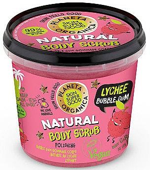 Body Scrub - Planeta Organica Natural Body Scrub Lychee & Bubble Gum