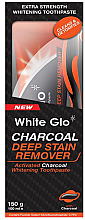 Fragrances, Perfumes, Cosmetics Set with Orange Toothpaste - White Glo Charcoal Deep Stain Remover Toothpaste (toothpaste/150ml+toothbrush)