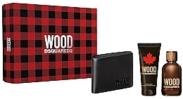 Fragrances, Perfumes, Cosmetics Dsquared2 Green Wood Pour Homme - Set (edt/100ml + sh/gel/100ml + wallet)