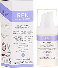Fragrances, Perfumes, Cosmetics Lifting and Brightening Eye Cream-Gel - Ren Keep Young And Beautiful