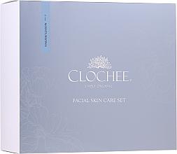 Fragrances, Perfumes, Cosmetics Set - Clochee Facial Skin Care Moisturising Set (ser/30ml + eye/cr/15ml + candle)