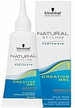 Fragrances, Perfumes, Cosmetics Creative Perm Gel - Schwarzkopf Professional Natural Styling Creative Gel №1