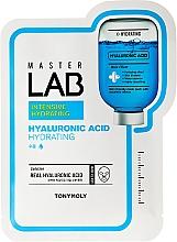 Fragrances, Perfumes, Cosmetics Hyaluronic Acid Facial Sheet Mask - Tony Moly Master Lab Hyaluronic Acid Mask