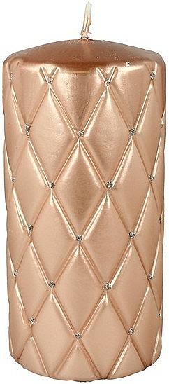Decorative Candle, 7x14cm, pink-golden - Artman Florence Candle