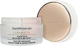 Fragrances, Perfumes, Cosmetics Cleansing Moisturizing Duo Face Mask - Bare Escentuals Bare Minerals Claymates Be Pure & Be Dewy Mask Duo