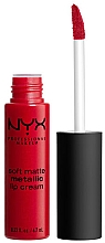 Fragrances, Perfumes, Cosmetics Liquid Matte Lipstick - NYX Professional Makeup Soft Matte Metallic Lip Cream