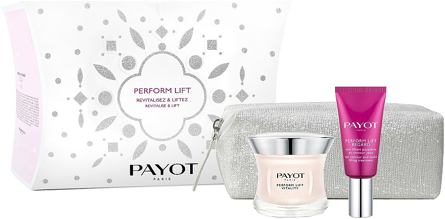 Set - Payot Perform Lift Revitalise and Lift (f/cr/50ml + eye/cr/15ml + bag) — photo N1