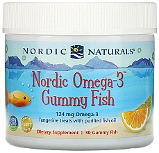 """Fragrances, Perfumes, Cosmetics Dietary Supplement with Mandarin Flavor """"Omega-3"""", 124 mg - Nordic Naturals Gummy Fish"""