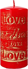 Fragrances, Perfumes, Cosmetics Red Decorative Candle, 7x14cm - Artman Lovely