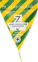 Fragrances, Perfumes, Cosmetics Soothing Centella Asiatica Night Mask - May Island Seven Days Secret Centella Cica Sleeping Pack