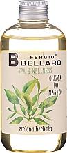 "Fragrances, Perfumes, Cosmetics Massage Oil ""Green Tea"" - Fergio Bellaro Massage Oil Green Tea"