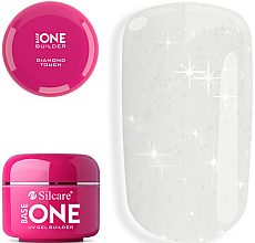 Fragrances, Perfumes, Cosmetics Transparent Nail Gel with Microspangles - Silcare Base One Diamond Touch