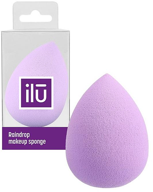 Teardrop Makeup Sponge, purple - Ilu Sponge Raindrop Purple